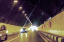 Cars driving in a tunnel